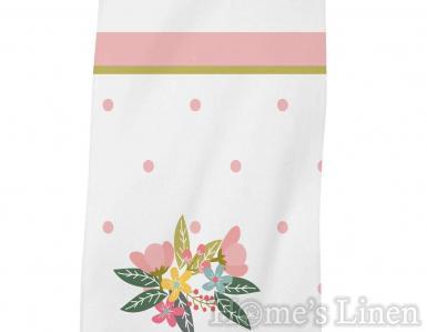 """Детска хавлиена кърпа DF печат """"Розов бухал"""""""