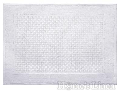 """Хотелско килимче за баня 100% памук """"Бяло"""" 620гр."""