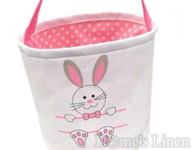 """Великденска кошничка за деца от канава """"Зайче"""" в четири цвята"""
