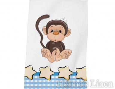 """Детска хавлиена кърпа DF печат """"Маймунка"""""""