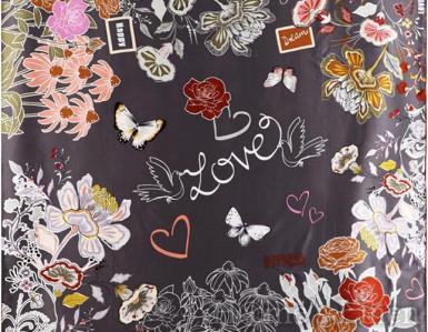 """Луксозен шал от естествена коприна """"Novus Amor"""", EM&EVE"""