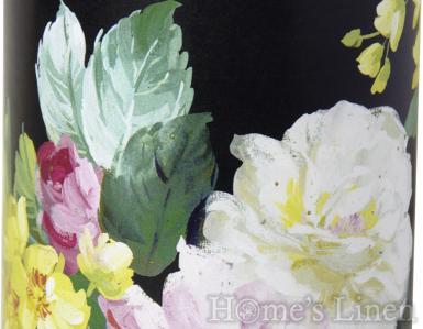 "Декорирана, ароматна свещ ""Vintage Big Rose black"", IHR"