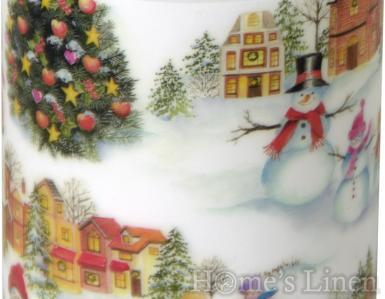 "Празнична декорирана свещ ""Happy Christmas"", IHR"