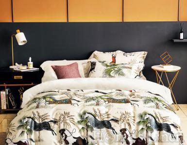 """Луксозен спален комплект памучен сатен, 100% памук 300 нишки """"Equest"""", Premium Collection"""