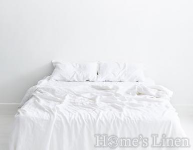 """Плик за завивка от 100% естествен лен """"Дантела бяло"""", Natural Linens Collection"""