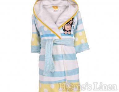"""Детски халат за баня DF печат """"Малък пират"""" размер М"""