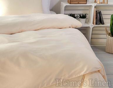 """Еднолицев спален комплект памучен сатен, 100% памук """"Праскова"""""""