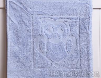 """Детска хавлиена кърпа 100% памук """"Светло син бухал"""""""