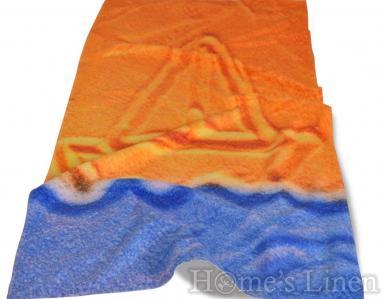 """Плажна кърпа с дигитален печат """"Пясъчна лодка"""""""