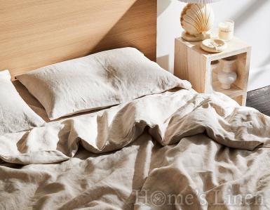 """Спален комплект от 100% естествен лен """"Овес беж"""", Natural Linens Collection"""