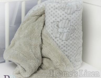 """Бебешко одеяло """"Микаела"""" - различни цветове"""