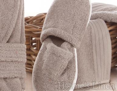 Хавлиени чехли 100% памук сиво