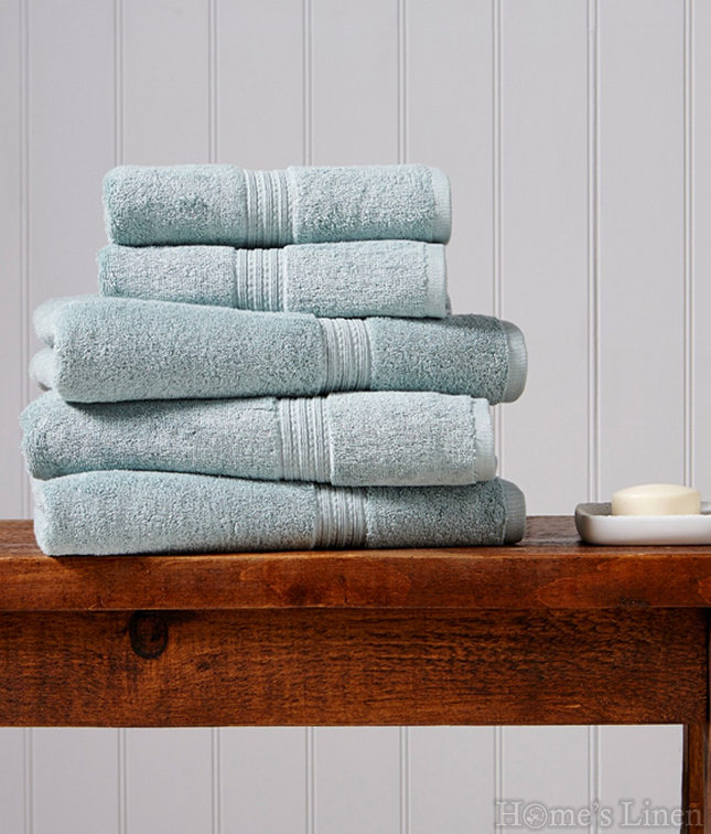 """Луксозна кърпа за баня 100% египетски памук """"Plush"""" Duck Egg Christy"""