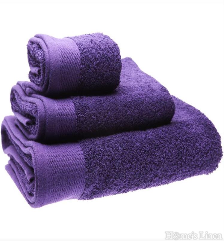 """Хавлиена кърпа 100% памук в 3 размера """"Тъмно лилаво"""""""