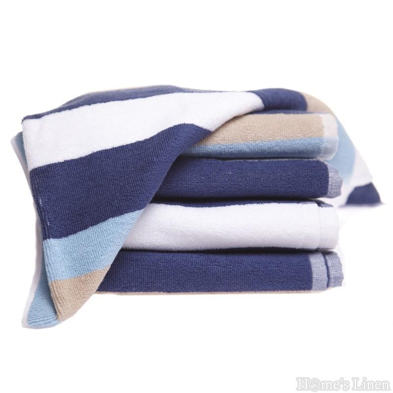 """Хавлиена кърпа 100% памук """"Синьо райе"""""""