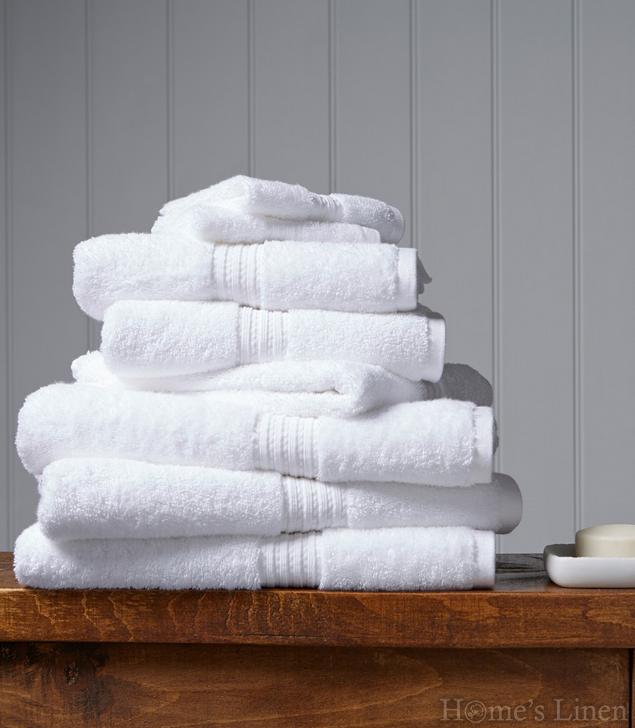 """Луксозна кърпа за баня 100% египетски памук """"Plush"""" White Christy"""
