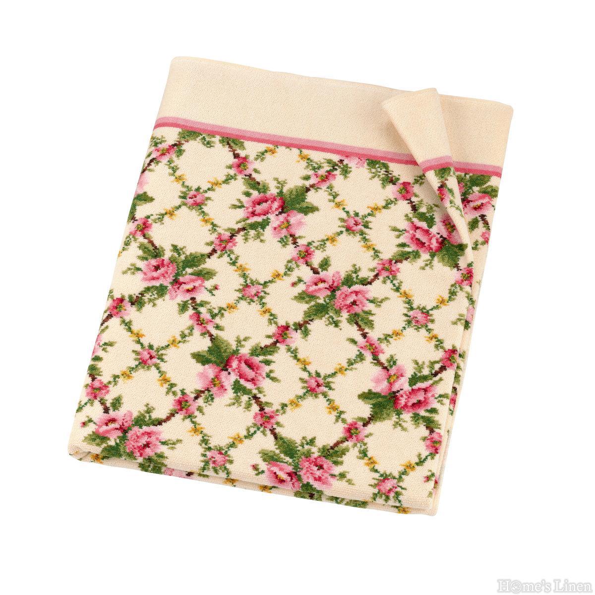 """Луксозна тъкана хавлиена кърпа 100% памук """"Amelie"""" Feiler"""