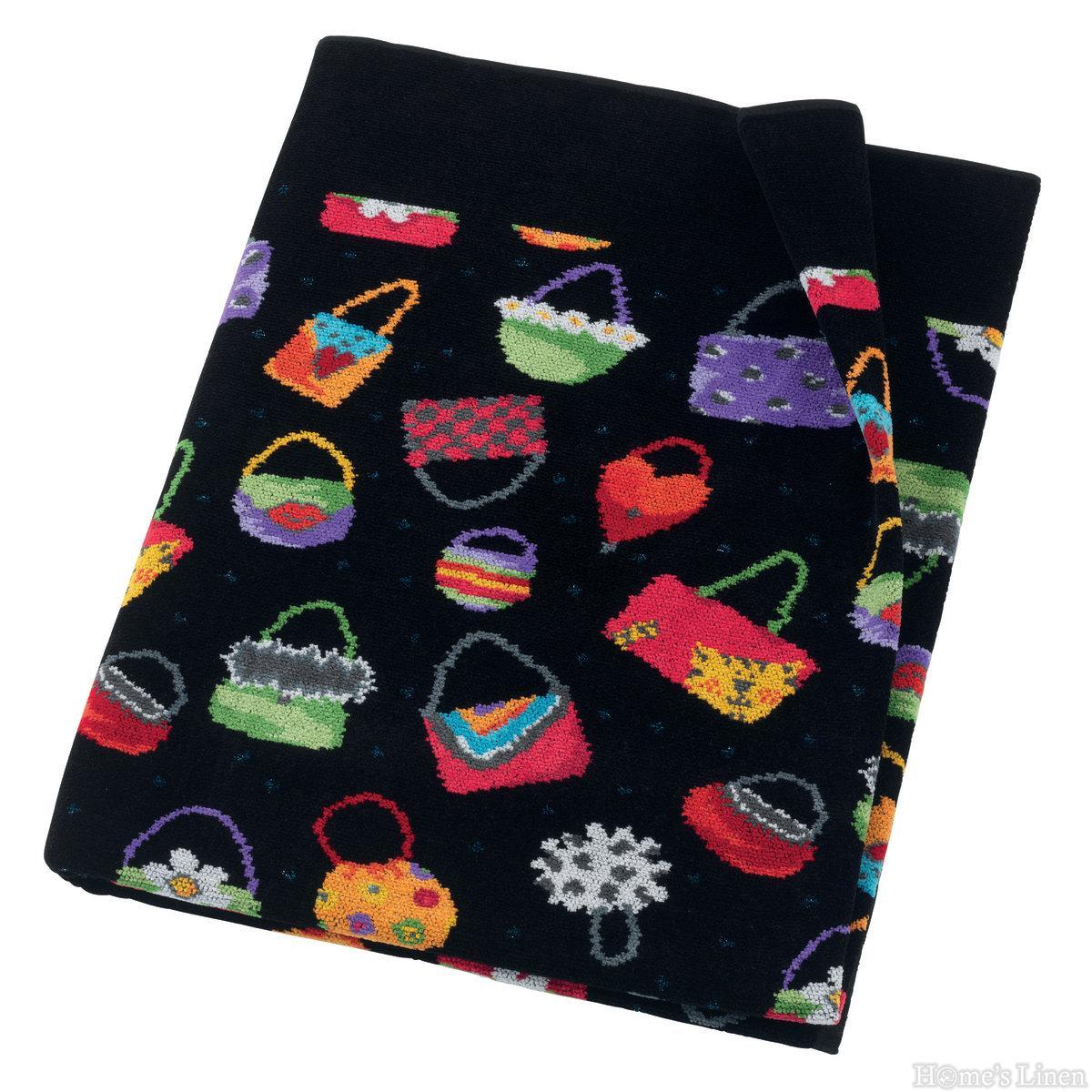 """Луксозна тъкана хавлиена кърпа 100% памук """"Crazy Bags"""" Feiler"""