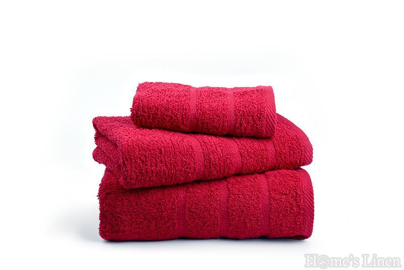 """Хавлиена кърпа """"Бейсик"""" червено"""