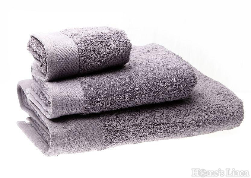 """Хавлиена кърпа 100% памук в 3 размера """"Сива"""""""