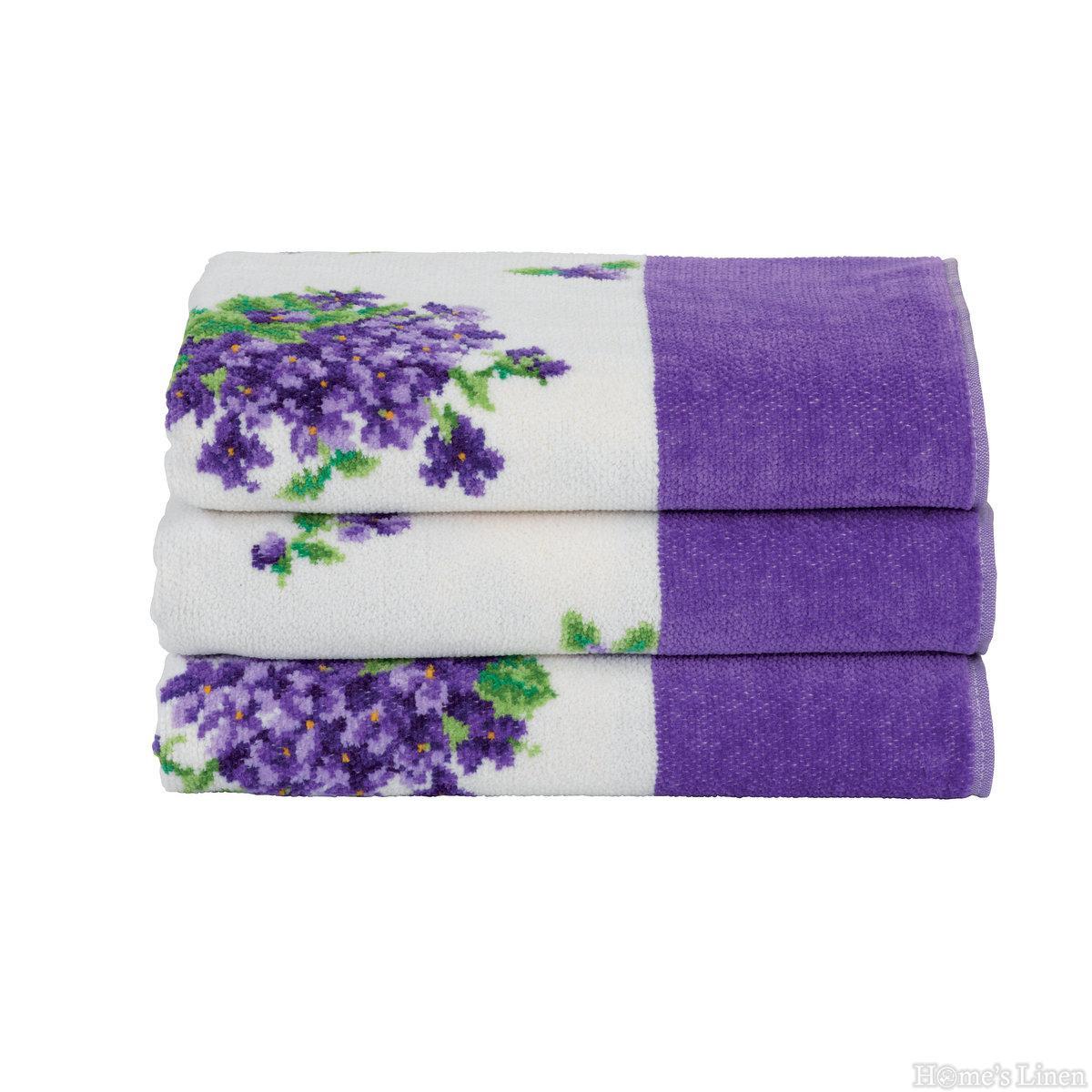 """Луксозна тъкана хавлиена кърпа 100% памук """"Bouquet"""" Feiler"""